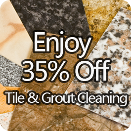 Enjoy 35% Off Tile & Grout Cleaning