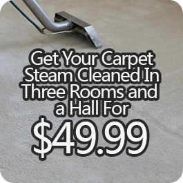 Get Your Carpet Steam Cleaned In Three Rooms and a Hall for $49.99